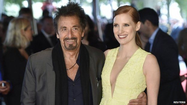 Al Pacino and Jessica Chastain
