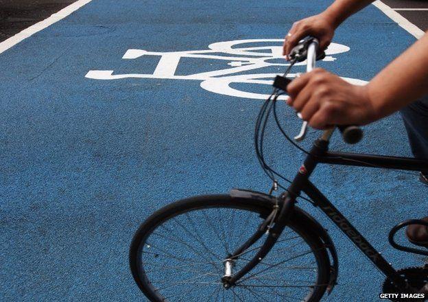 Cycle superhighway in London
