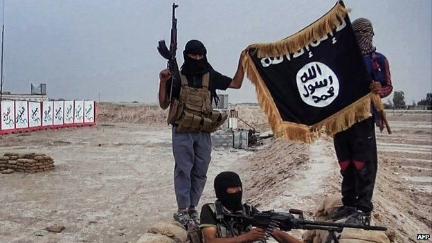 IS fighters in the northern Iraqi province of Salahuddin. 12 June 2014