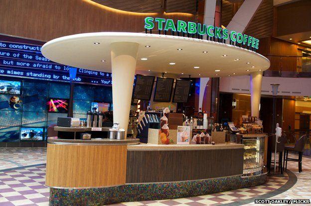 Starbucks aboard the Allure