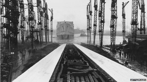 Launch of the SS Queen Mary