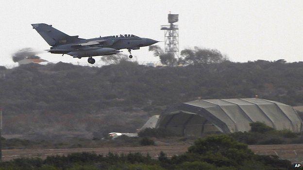 UK warplane in Akrotiri near southern city of Limassol, Cyprus. 27 Sept 2014