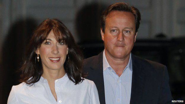 Samantha and David Cameron