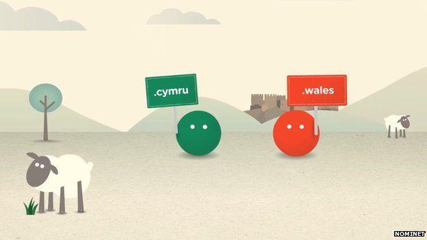 Parthau newydd .cymru a .wales
