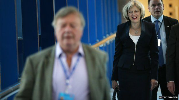 Theresa May and Ken Clarke