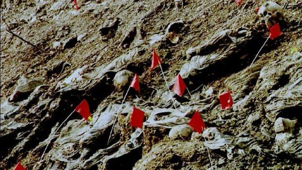 Mass grave of Srebrenica 11 July 2006 - no data on this pic
