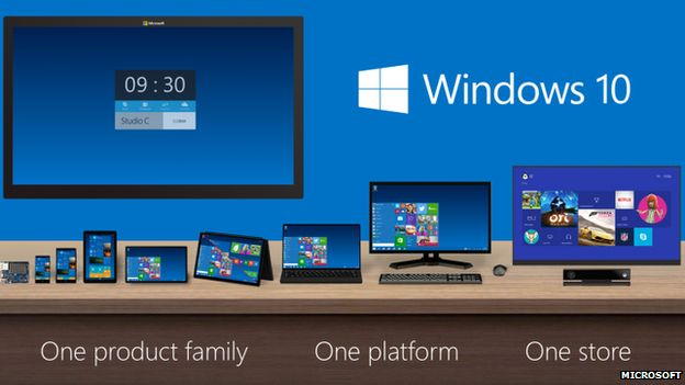 different devices running windows 10