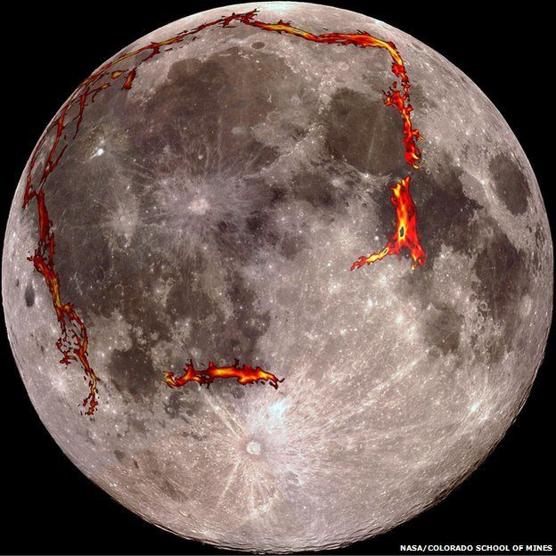 Moon's hidden valley system revealed - BBC News