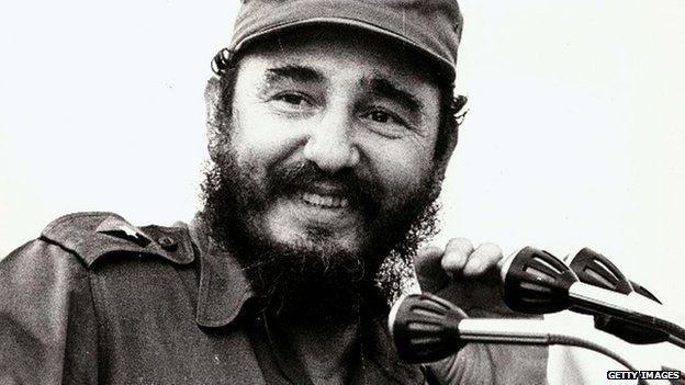 This 1972 file photo shows Fidel Castro, leader of the Cuban Communist party speaking to the press in Havana, Cuba