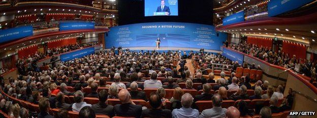 David Cameron at the Conservative Party conference