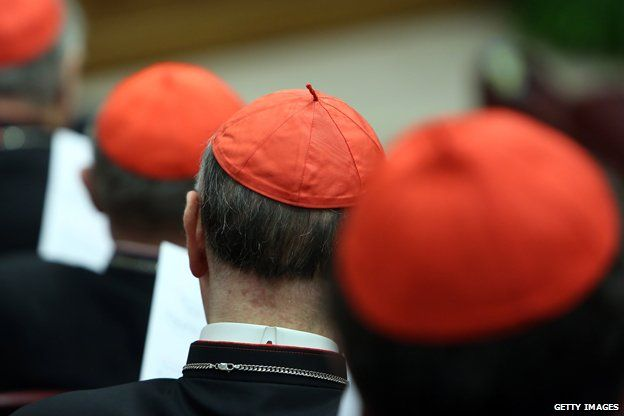 Cardinals attend the morning session of Extraordinary Consistory on the themes of Family at the Synod Hall on February 21, 2014 in Vatican City, Vatican