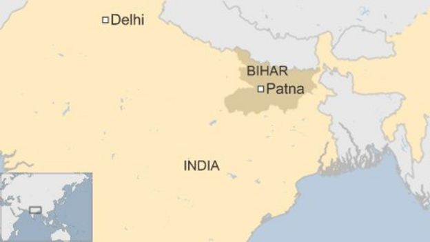India stampede patna crush leaves 32 dead bbc news map of india gumiabroncs Image collections