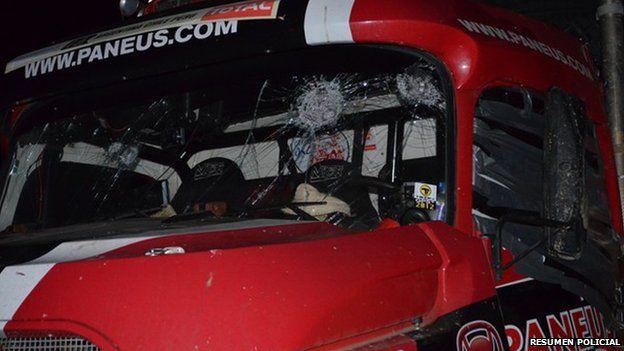Damaged Top Gear vehicle