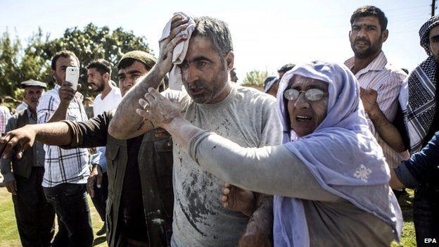 Man injured after Turkish house apparently damaged by rocket - 5 October