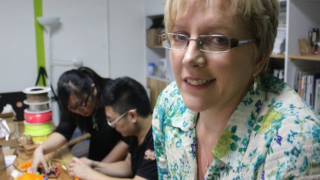 Carrie Gracie meets a group of young start-up innovators in Shenzhen