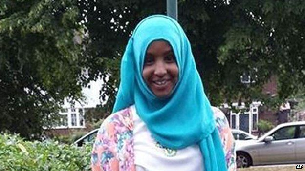 Schoolgirl Yusra Hussien outside her home in Bristol