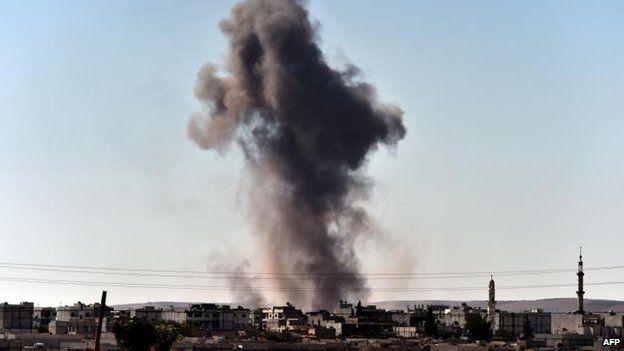 Blasts in Kobane, 7 Oct