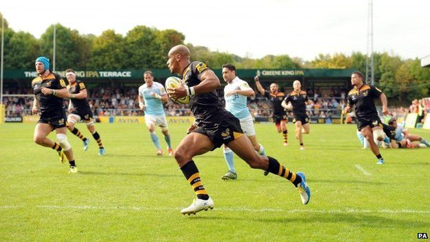 Wasps v Newcastle Falcons in High Wycombe
