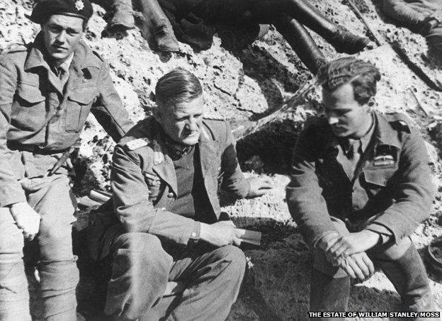 Moss, General Kriepe and Leigh Fermor at Xyloris' hideout, 28 April 1944