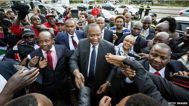 Kenya's President Uhuru Kenyatta arrives at the International Criminal Court on 8 October 2014