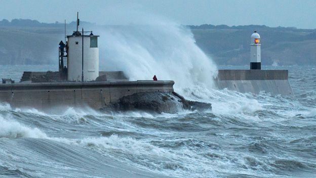 Storm ym Mhorthcawl