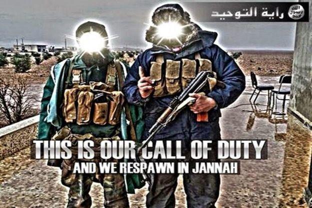 """Call of Duty""-style Jihadist poster"