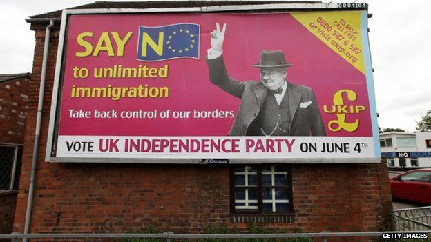 A UKIP billboard from the European elections in 2009