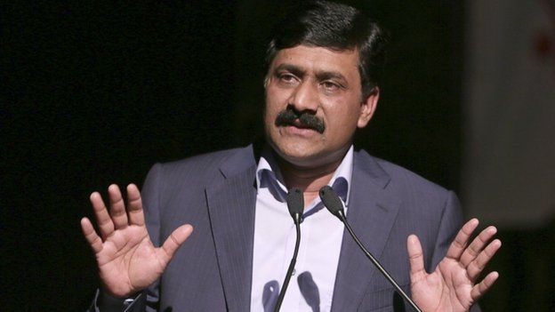 """Ziauddin Yousafzai, the father of Pakistani schoolgirl activist Malala Yousafzai, and a United Nations Special Advisor on Global Education, speaks at a youth symposium and cultural show held in his daughter""""s honour in Port-of-Spain"""