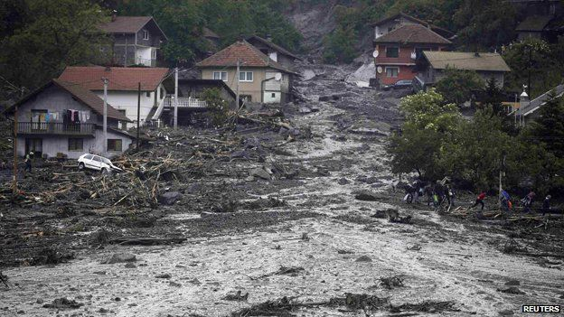 Floods in Topcic Polje May 2014