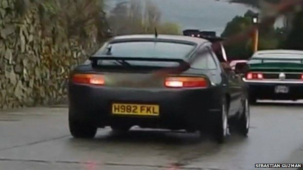 Car with the controversial number plate
