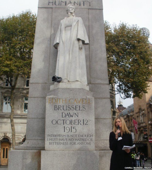 Patron and actress Sophie Ward gives a reading of Edith Cavell's words