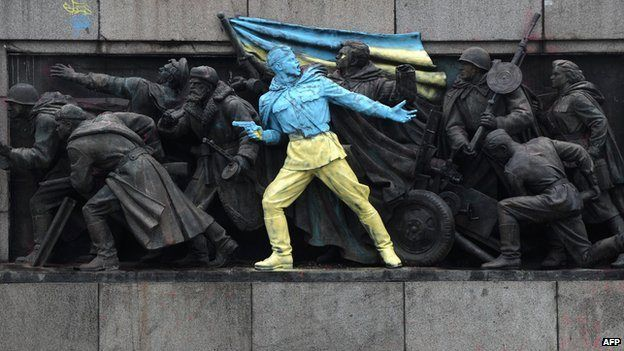 A Soviet war monument in Sofia