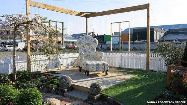Mosaic armchair by Crack'd for Christchurch