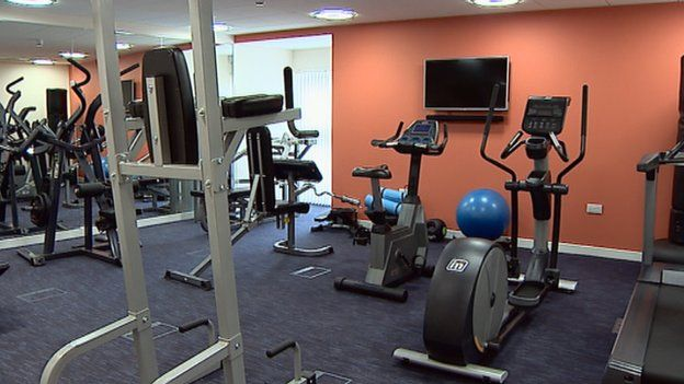 The gym at the facility