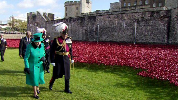 Queen at Tower of London