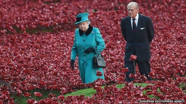Queen and Duke at Tower of London