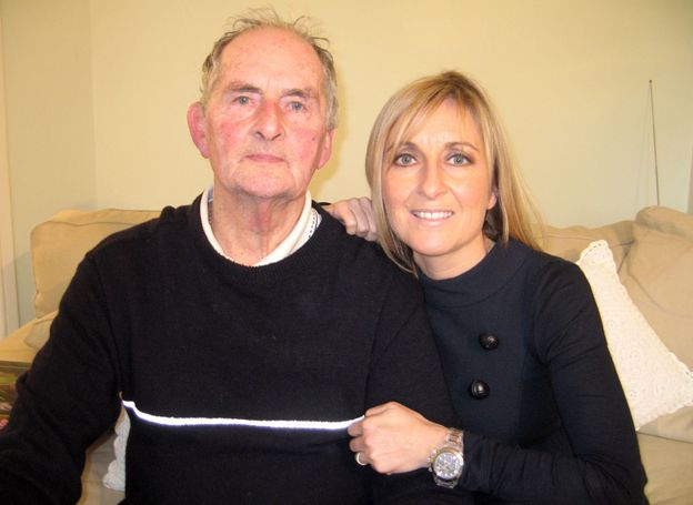 Fiona Phillips with her father