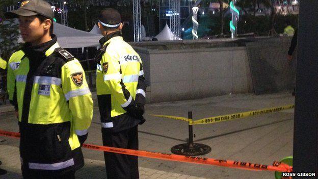 Police at the scene in Seongnam