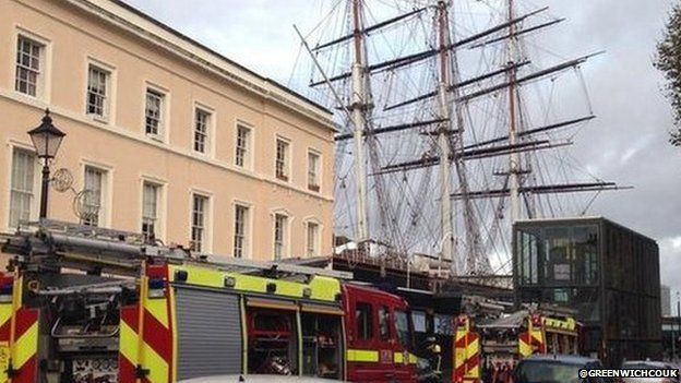 London Fire Officers attend Cutty Sark