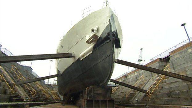 HMS M33 at Portsmouth