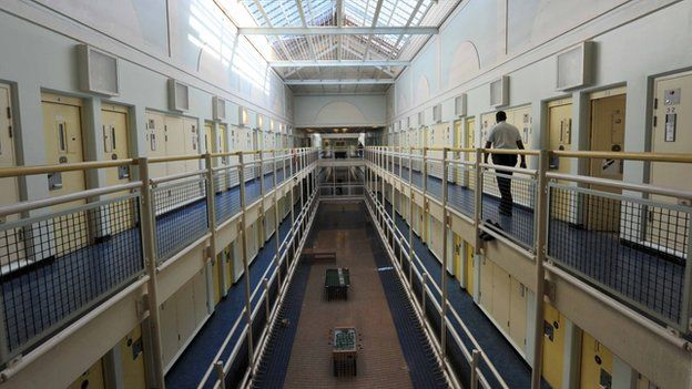 A cell block at Wormwood Scrubs