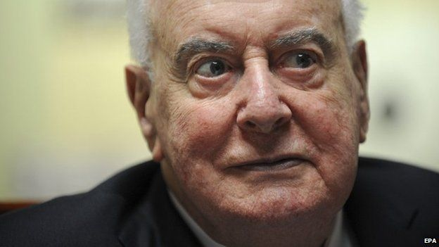 File picture shows former Australian PM Gough Whitlam listening to a speech at the launch of his biography in Sydney on 6 November 2008