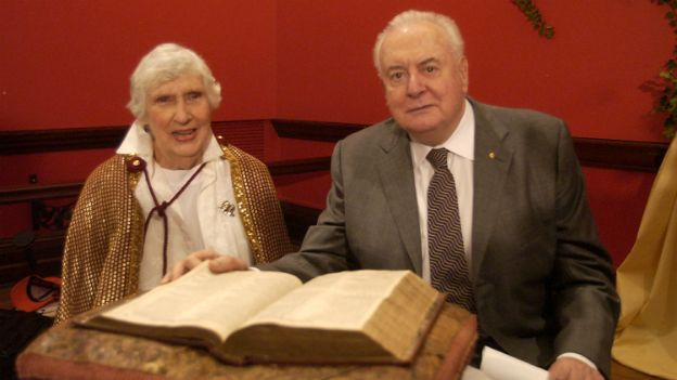 Whitlam Gough and his wife Margaret - January 2003