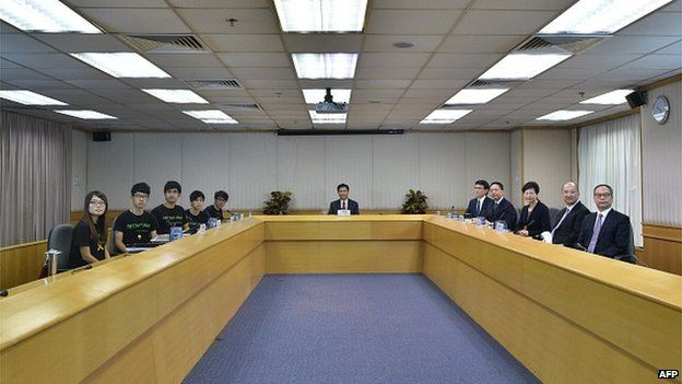 Meeting between students and Hong Kong government officials