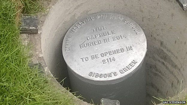 Time capsule buried in Gibson's Green