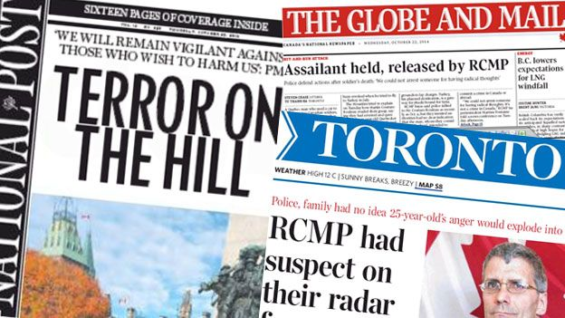 Canadian newspaper font pages