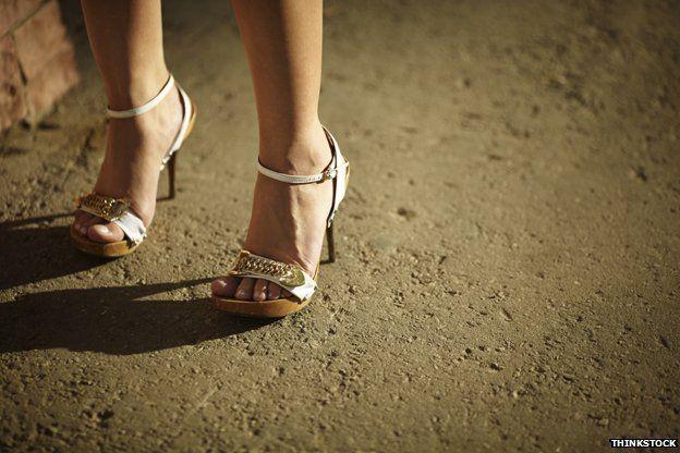 Pair of legs on high heels