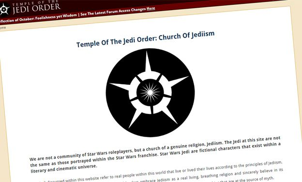 Home page of the Temple of the Jedi Order
