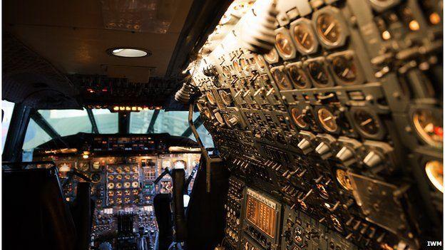 Restored cockpit on Concorde