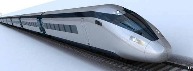 Artist's impression of potential HS2 train design